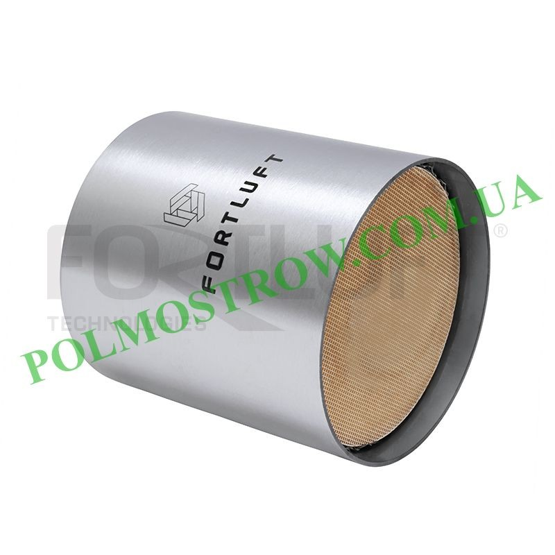 Ремонтный блок катализатора 101110E5 Fortluft -  Код: 101110E5 Материал корпуса: Нержавеющая сталь Материал блока: Керамика Длин
