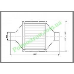Катализатор плоский металлический LINDO GOBEX класса EURO 4 (для автомобилей с мощностью двигателя 2,0 - 2,8)  - 1