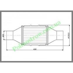 Катализатор круглый металлический LINDO GOBEX класса EURO 4 (для автомобилей с мощностью двигателя 2,0 - 2,8)  - 1