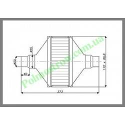 Катализатор плоский металлический LINDO GOBEX класса EURO 4 (для автомобилей с мощностью двигателя до 1,4)  - 1